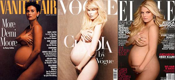 capas de revista com gravidas