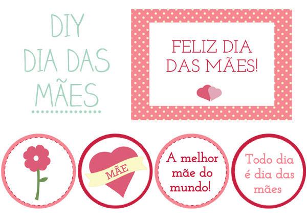 diy printable dia das mães