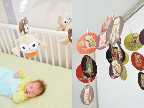 Quarto de bebê: corujas