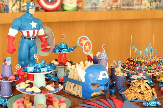 festa infantil parangole buzz lightyear capitao america