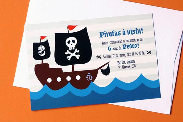 convite infantil menino phatt design