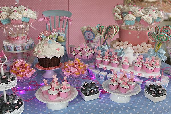 festa infantil rosa cupcakes menina