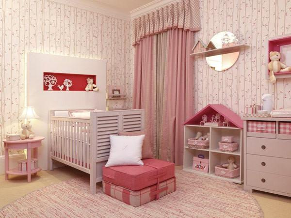 Quartos de menina rosa e vermelho Constance Zahn  ~ Quarto Rosa E Vermelho