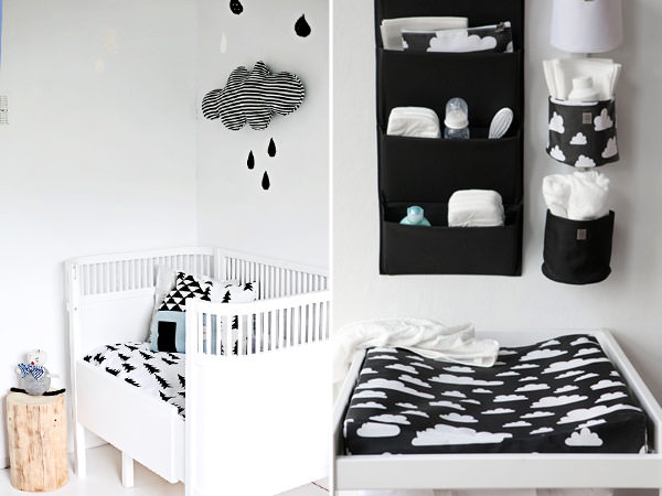 Quartos de bebê em preto e branco Constance Zahn  ~ Quarto Preto E Branco Jovem