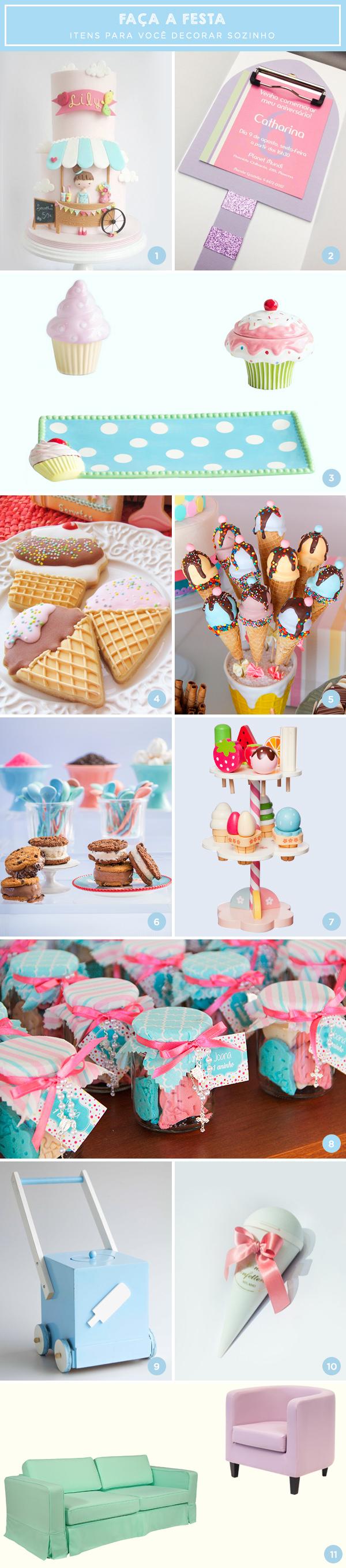 Faça a festa: 11 itens com tema sorveteria