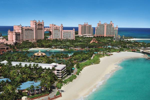Vista aérea do Atlantis Paradise Island Resort