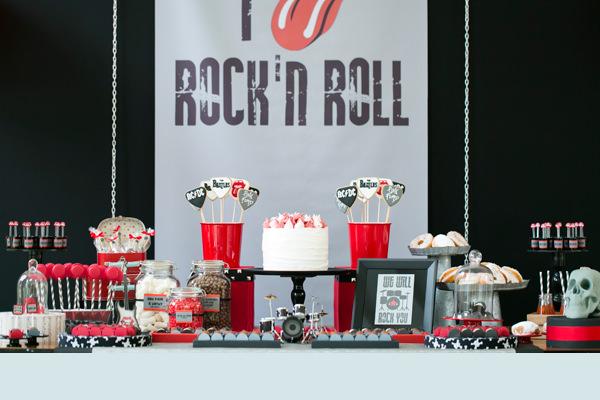 Matrimonio Tema Rock And Roll : Aniversário com tema rock n roll