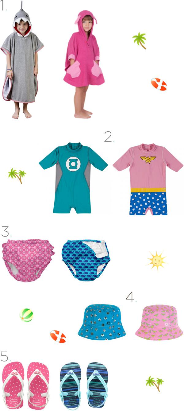 Peças estilosas e seguras para curtir piscinas e praias
