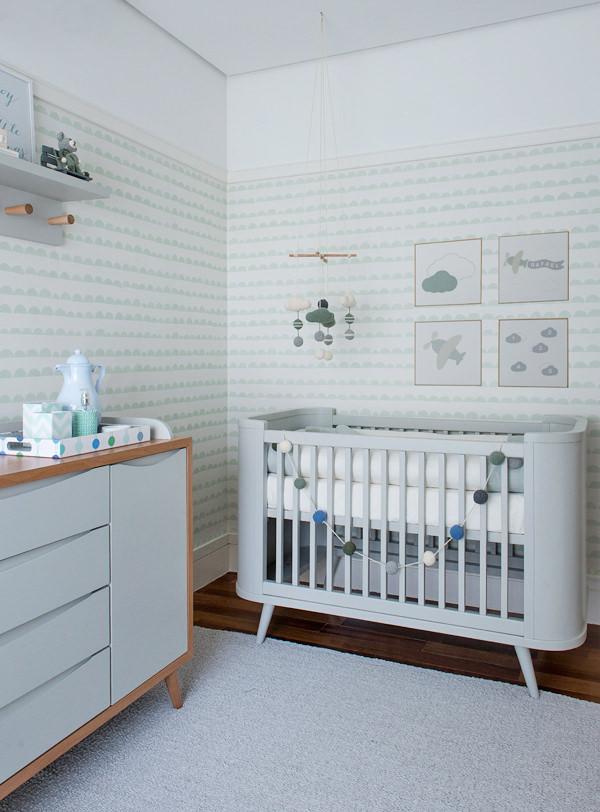 Verde menta para o quarto do bebê ~ Quarto Verde Marinho