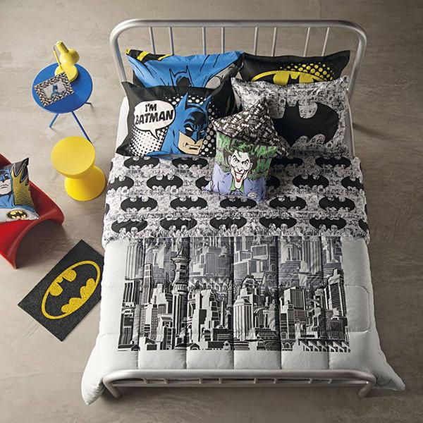 """Roupa de cama inspirada no filme """"Batman vs Superman: A origem da justiça"""""""