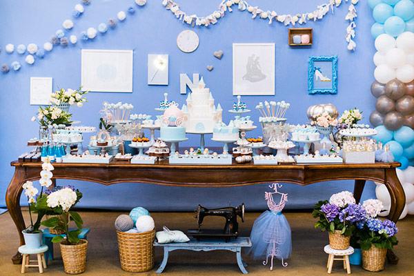 Festinha com tema Cinderella