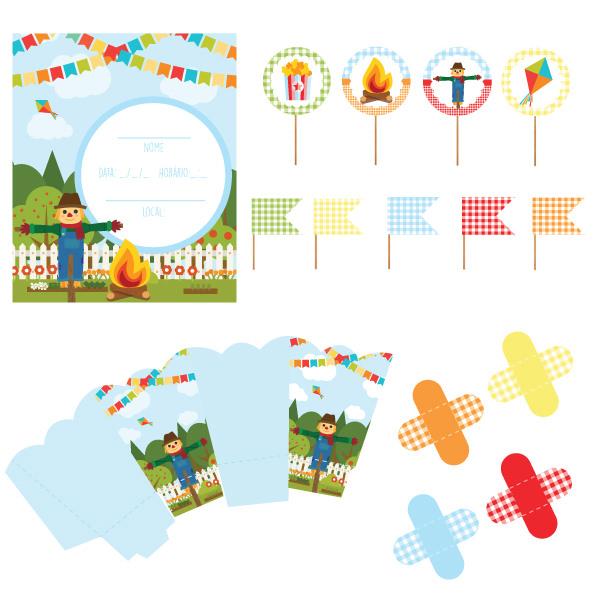 Festa junina: papelaria para imprimir e decorar a festinha