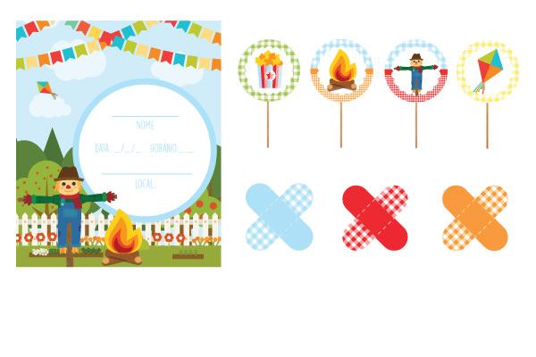 Armario Nancy Famosa ~ Festa junina papelaria para imprimir e decorar a festinha