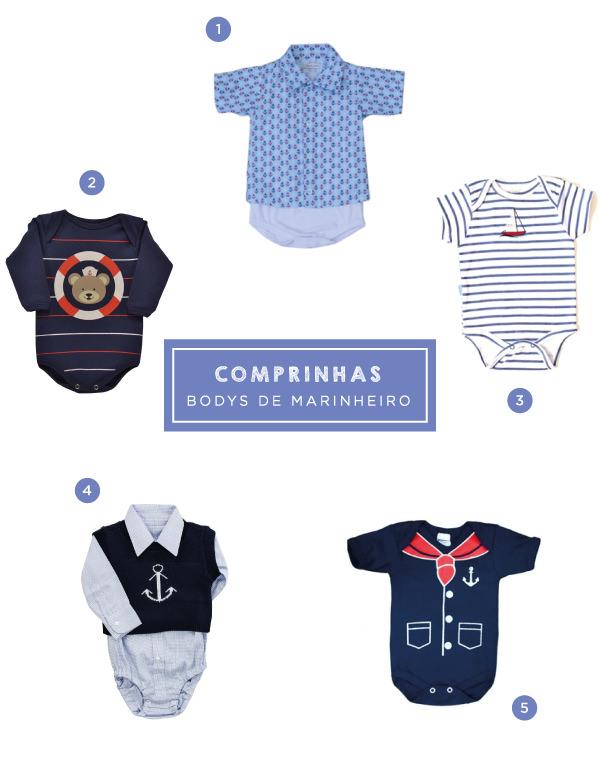 BABIES - COMPRINHAS-NAUTICO-BODYS-MARINHEIRO