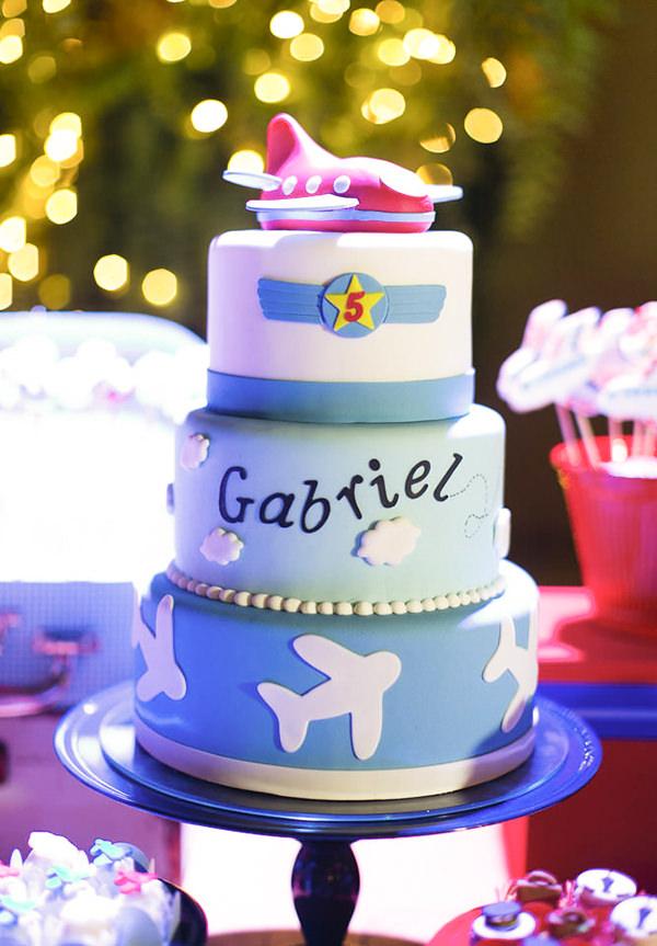 Decoração de aviões para o aniversário do Gabriel