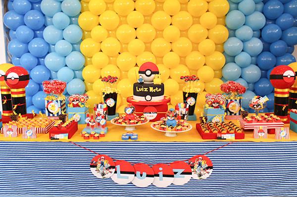 Aniversário de criança com tema Pokémon