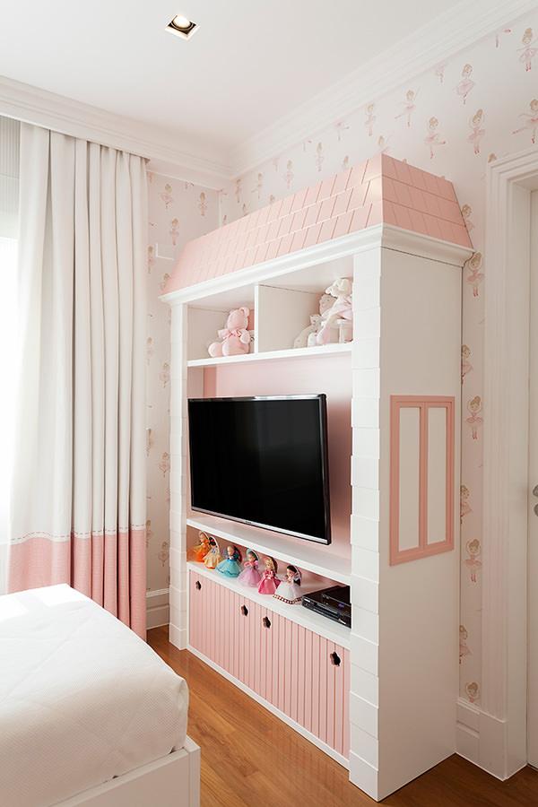 Decoração com tema bailarina e cama casinha