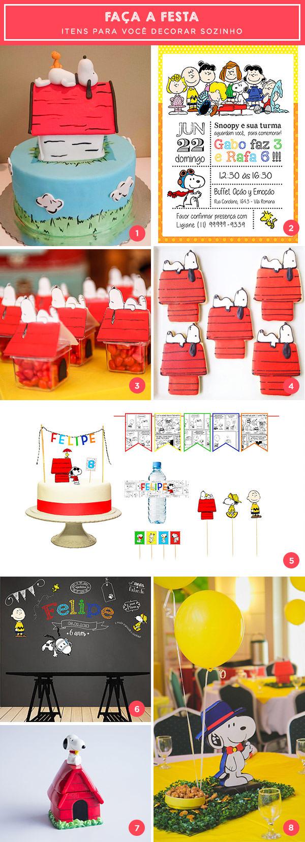 Faça a festa: tema Snoopy