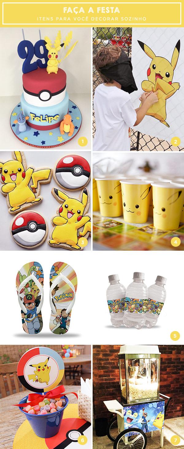 Faça a festa: tema Pokémon