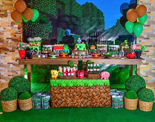 Festa infantil com tema Miniecraft