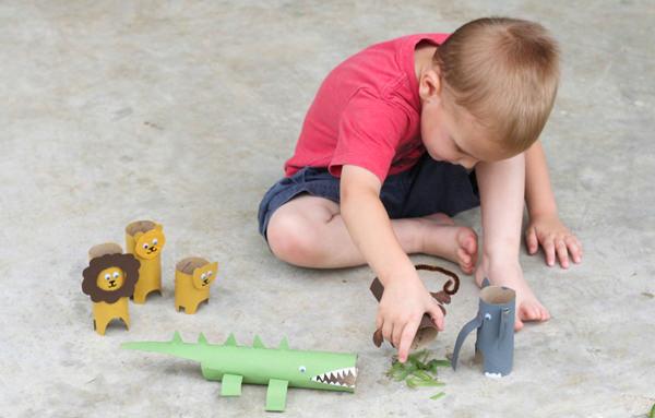 Animais de papel higiênico, Brincadeira, Criança, Atividades,