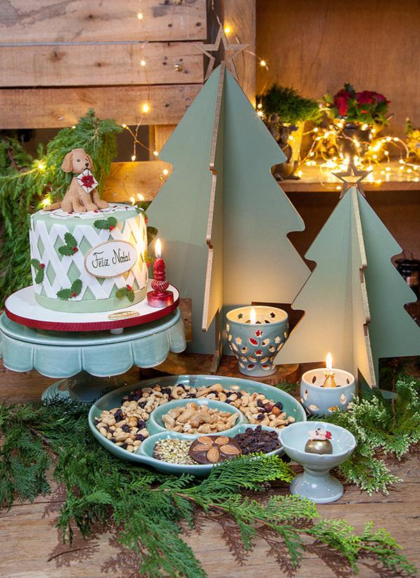 Decoração de Natal com peças alugadas