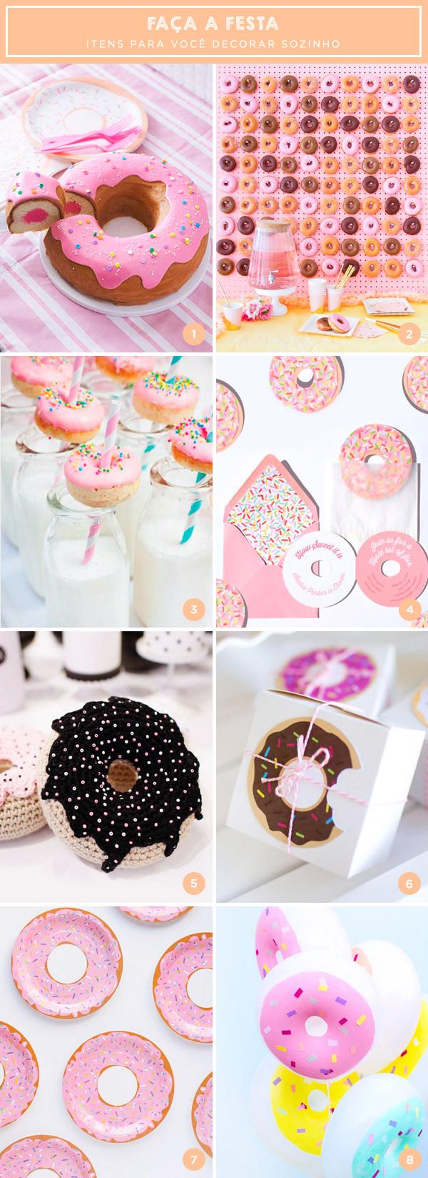 Faça a festa: 8 itens com tema donuts para o aniversário