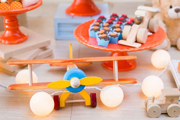 Festinha infantil, Menino, Tema brinquedos antigos, Partiê