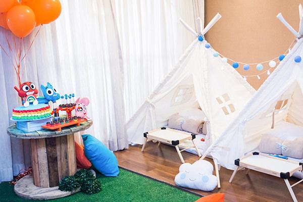 Festinha infantil, Festa do pijama, Partiê, Gumball