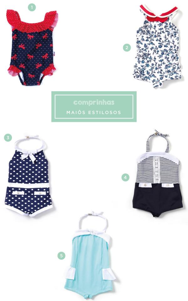 5 maiôs estilosos para bebês e crianças