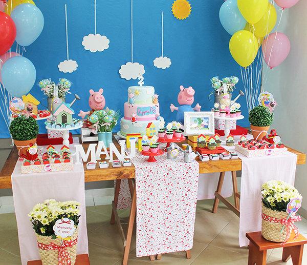 Aniversário no mundo da Peppa Pig