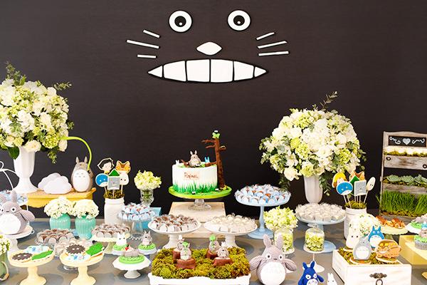 Aniversário de um ano com tema Totoro